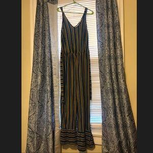 Caution to The Wind Stripped Jumpsuit